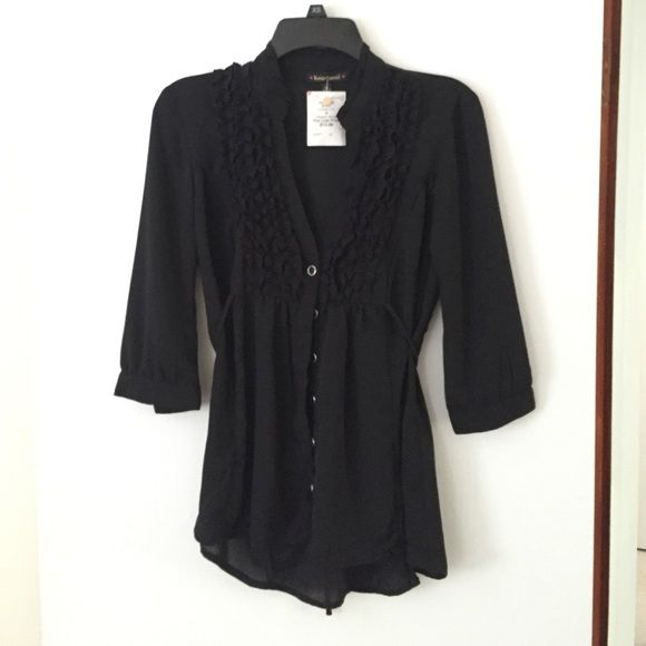 Black top 1/4 length sleeves. Bought at Burlington coat factory as a just incase for an event. Never worn. HeartSoul Tops Blouses