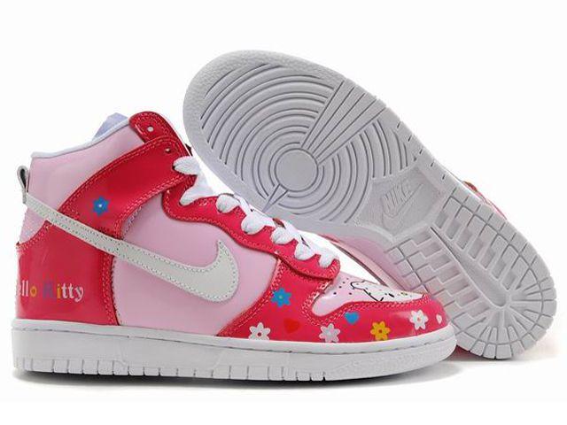 Chaussures Nike Dunk High Rouge/ Rose/ Blanc [nike_11871] - €61.96 :