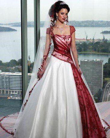 vestidos-de-novia-diferentes-color-rojo-y-blanco | plata | pinterest
