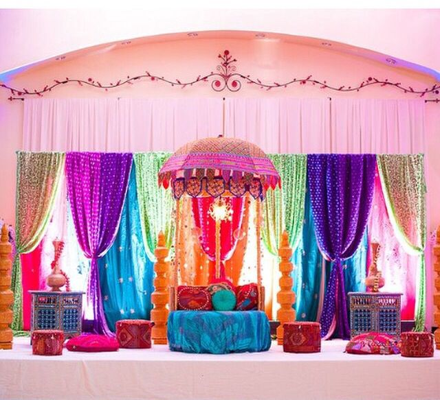 Mehndi Backdrop Ideas : Best indian wedding backdrops draping festive