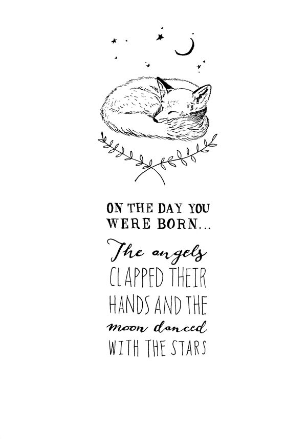 Baby Fox {$55 +p&p}. Hand drawn, professional quality A4 print. Limited edition - only 15. All signed & hand numbered.