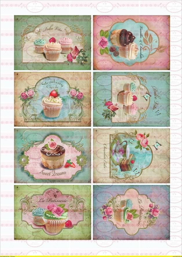 Cupcake Art Vintage : 272 best images about Cupcake on Pinterest