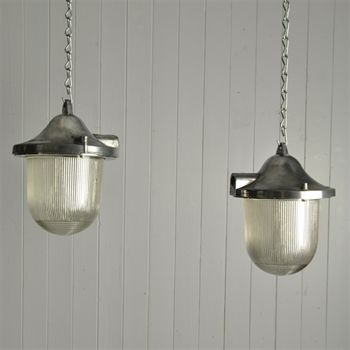 reclaimed industrial lighting. reclaimed prismatic mine lights vintage industrial lighting original house 26 cm h x 22