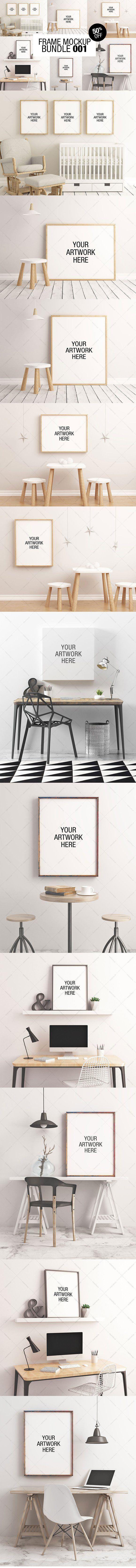 Frame Mockup Bundle 001 - 50% OFF by positvtplus on @creativemarket