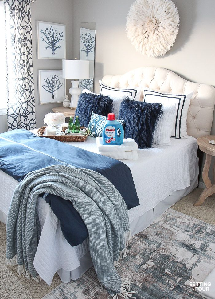 11 Cozy Guest Bedroom Ideas For The Hostess Guest Bedroom Decor Guest Bedrooms Small Guest Bedroom