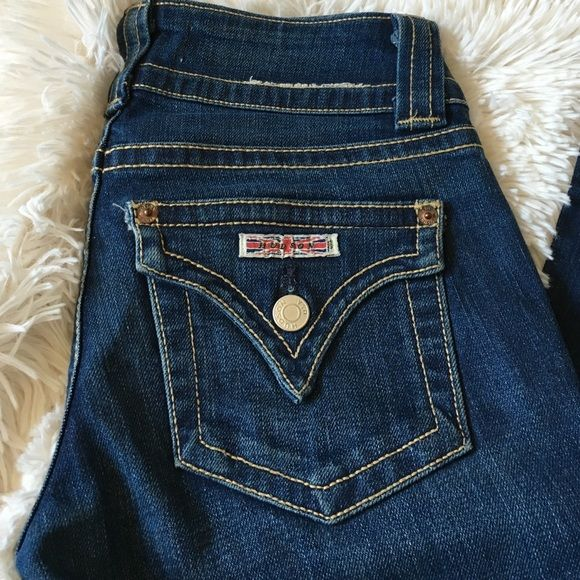 NWOT HUDSON Jeans Very cute and stylish. Worn once but realized the seamstress hemmed them too short! :( lol  needs a new home. No flaws. Hemmed for shorties so inseam is 25 inches! Hudson Jeans Jeans Boot Cut