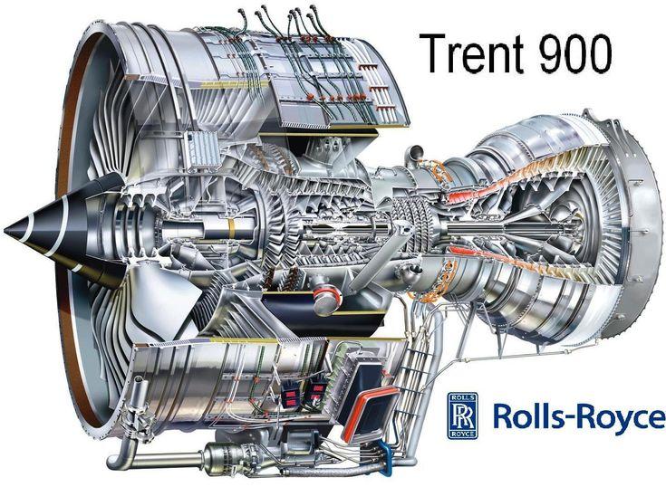 Rolls Royce Trent 900 Turbo Jet Fan Shaft Prop