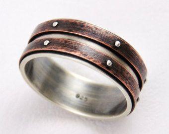 Unique mens wedding ring men engagement ringsilver by Gilleri