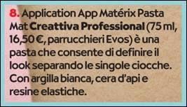 """Creattiva Professional  #matérix pasta mat in edicola su OK Salute e Benessere  !  """" #CAPELLI NO LIMITS """" Chioma in pink, schiariture color ghiaccio, #onde scomposte,  #trecce romantiche, #corto dall'indole rock. Le chiome impazzano.  scopri di più: http://www.capellicreattiva.it/styling-app-/119-styling-app-pasta-materix.html"""