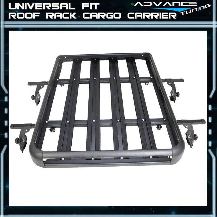 50x35x5 Inch Roof Rack Cargo Luggage Carrier With Cross Bar Aluminum Black