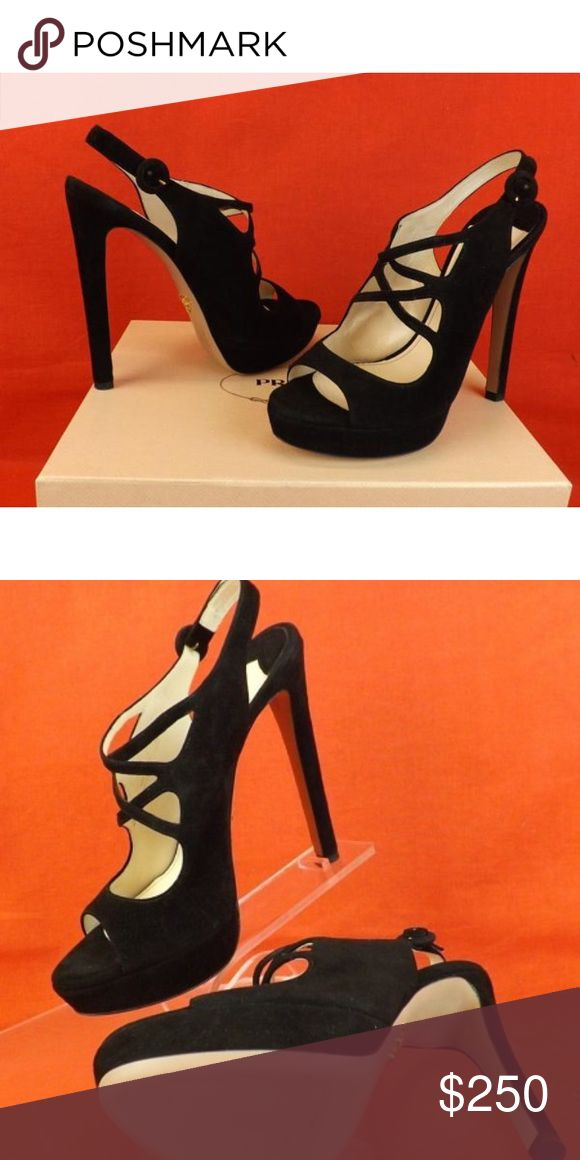 Prada pumps Black strappy pumps. Prada Shoes Heels