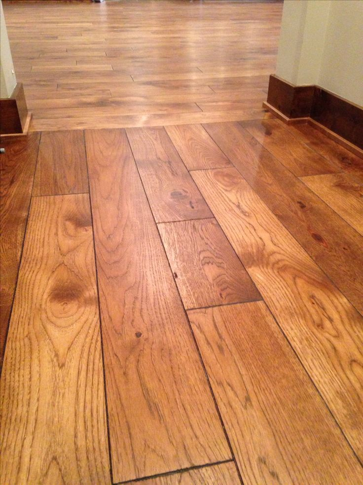 29 best flooring images on pinterest wood flooring for Flooring transition from kitchen to family room