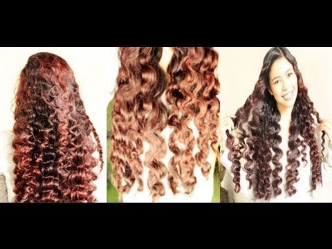 No heat Straw Curls 3rd Method- Heatless Hollywood Waves Inspired to Soft Loose Waves  This girl has lots of heat-free curl/wave tutorials!