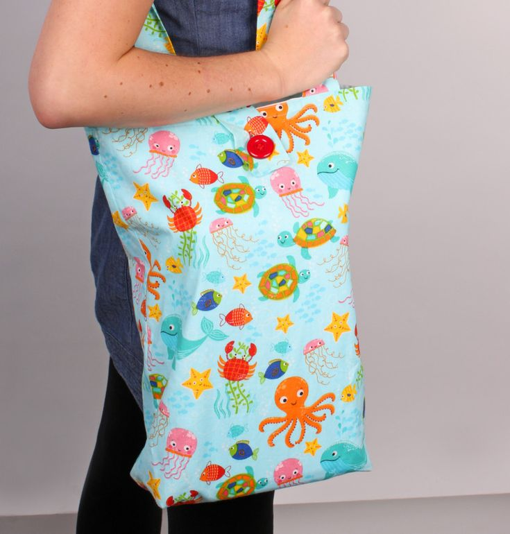 How to Make a Beach Bag #Sewing #BeachBag