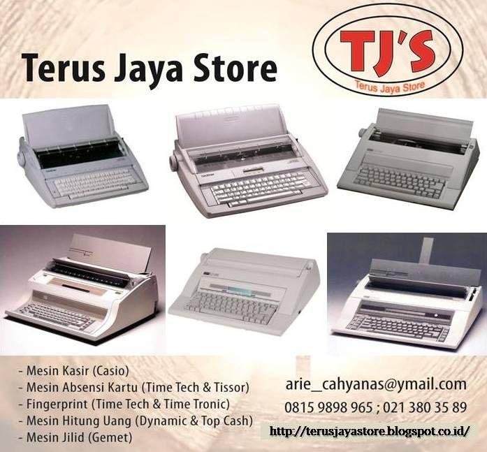 "Electric Typewriter/ Mesin Ketik Elektrik ;  Merk/Tipe :  + Brother GX 8250 (Display 13""),  + Nakajima AX 160 (Display 13""),  + Brother GX 6250 (Non Display 13""),  + Nakajima AX 150 (Non Display 13""),  + Nakajima AE 640 (Display 15""),  + Nakajima AE 830 (Display 17"").   Call :  Terus Jaya Store (Arie Cahyana)  Hp: 0815 9898 965  Email : arie_cahyanas@ymail.com  #cashregister #mesinkasir #restaurant #casio #business #office  #cafe #electronic #typewriter #nakajima #brother"