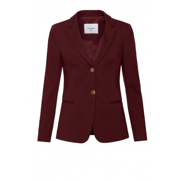 Evanescence Jersey Blazer bordeaux ❤ liked on Polyvore featuring outerwear, jackets, blazers, jersey blazers, red jacket, blazer jacket, jersey jacket and red jersey
