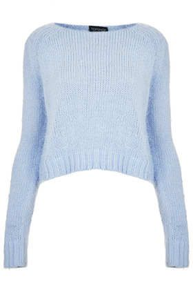 Knitted Fluffy Crop Jumper ... All about the texture!