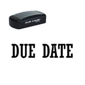 Need to remind people when #papers are due? Order the premium quality due date preinked stamp.  Quick turnaround on this useful, slim #office #stamp.
