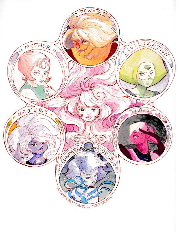 Steven universe,фэндомы,Jasper,SU Персонажи,Pearl (SU),Peridot,Rose Quartz,Amethyst (SU),Garnet (SU),Lapis Lazuli