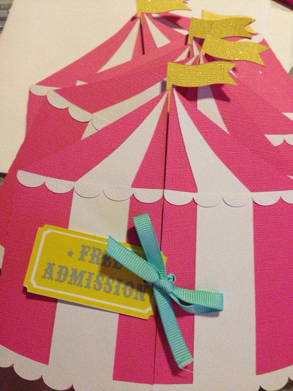 Carnival Birthday Circus Tent Invitation by NiuDesigns on Etsy