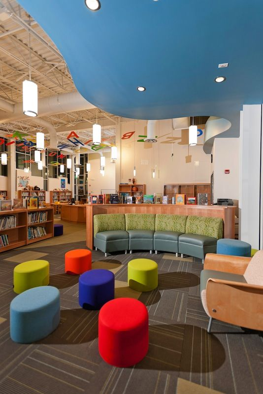 The Mineola UFSD approached H2M with the idea of creating a new, state-of-the-art library addition suited to the Pre-K through second students attending it's Hampton Street Elementary School. The new building is a modern approach to library science, with  https://emfurn.com/