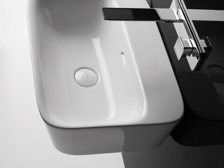 Lavabo rettangolare sospeso SOUL 4 Collezione Soul by Valdama | design Monia Marzano