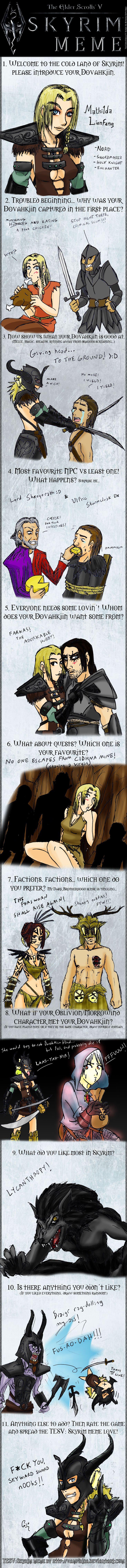 Skyrim Art Meme by makotomikami on DeviantArt