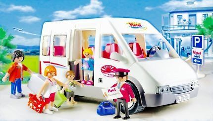PLAYMOBIL Hotel Shuttle Bus 5267 from the Playmobil Hotel Range. #toys2learn #playmobil  #hotel  #vehicle  #pretend  #play #gift  #bus  #australia   #child   #children