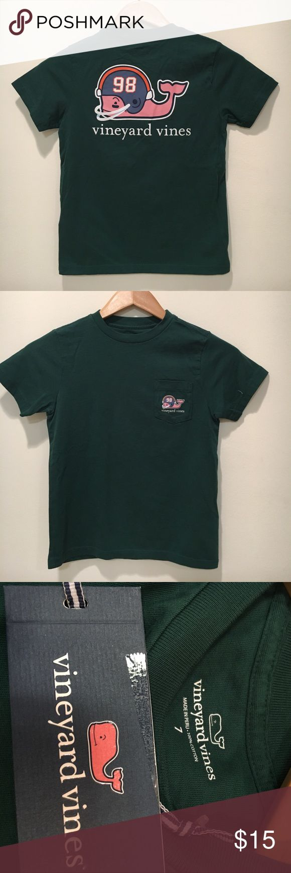 Vineyard Vines NWT Boys Size 7 T-Shirt. Price Firm Green Size 7 NWT adorable short sleeve t-shirt Vineyard Vines Shirts & Tops Tees - Short Sleeve