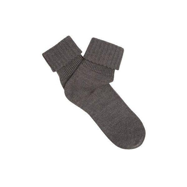 Falke Striggings wool-blend socks (900 RUB) ❤ liked on Polyvore featuring intimates, hosiery, socks, grey, falke, wool blend socks, logo socks, falke socks and falke hosiery