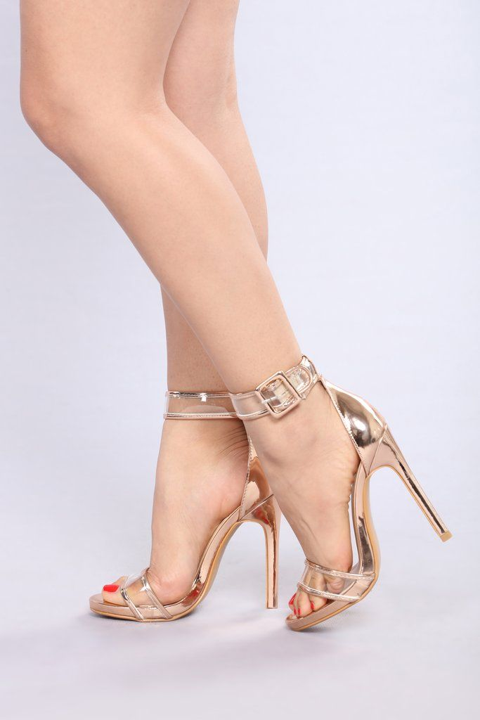 Tap The Strap Heel Gold in 2019 | Heels, Strap heels, Shoe