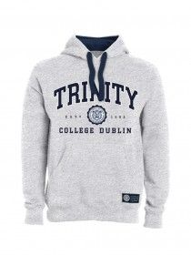 Trinity Unisex Hood Embroidered Grey