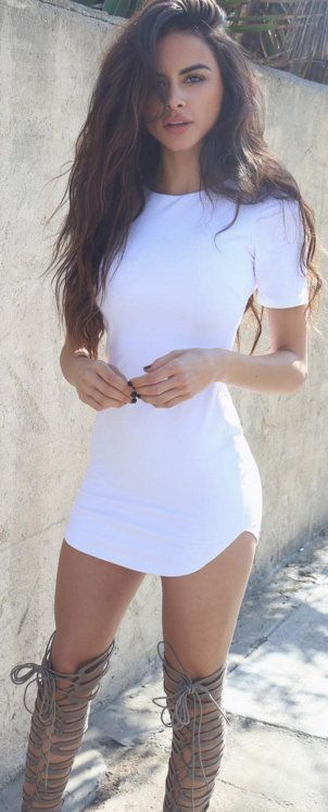 white bodycon summer dress