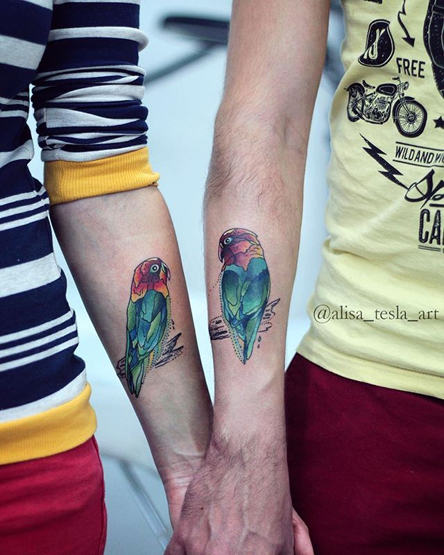 lovebirds!!!❤️ #alisatesla #alisateslatattoo #teslatattoo #bird #birdtattoo #birds #coupletattoo #art #artist #tat #tattoo #tattoos #tattooed #tattooedfamily #tattooedgirl #design #drawing #draw #beauty #ink #inked #love #inkedup #tattrx #tattooistartmagazine #tattoorevuemag #inkedfreakz #sketch #tattoosketch #happyfamily