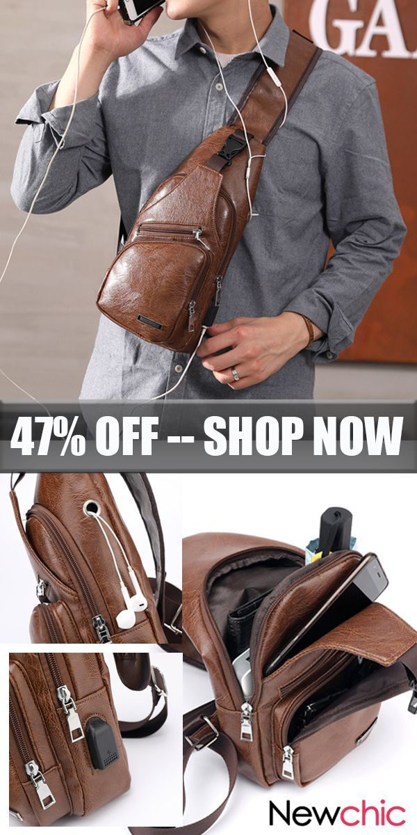f547865f1b  US 20 Large Size USB Charging Port Chest Bag  Sling Bag  Crossbody Bag For  Men outdoor  outdoors  travel