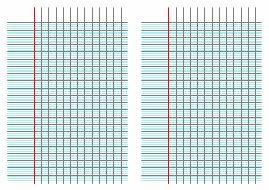 Imprimer du papier quadrillé gros carreaux 8 mm pour réaliser un cahier d'écolier (format A5)