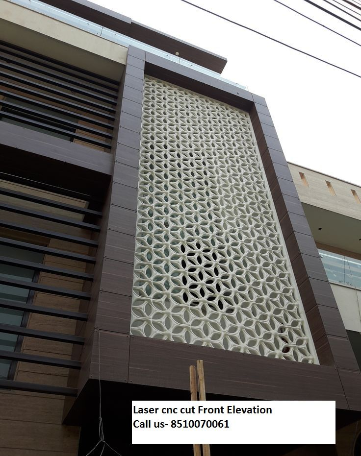 Front Elevation Acp Work : Besten laser cnc cutting work call bilder