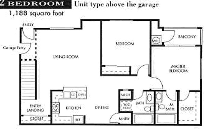 Garage apartment floor plans 3 car garage the seville for Two bedroom garage apartment plans