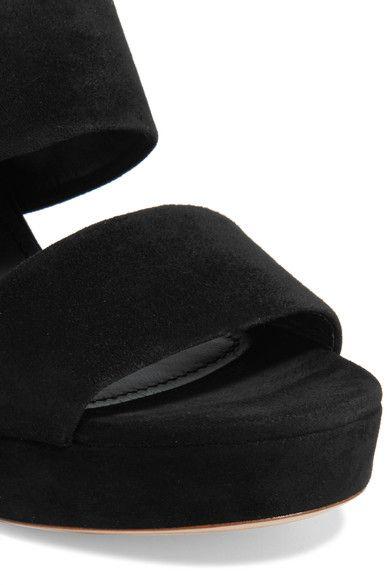 Mansur Gavriel - Suede Platform Mules - Black