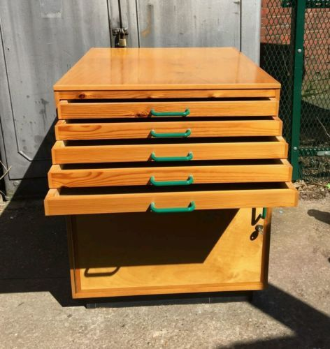 vintage-architects-plan-chest-haberdashery-cabinet-printers-filing-storage