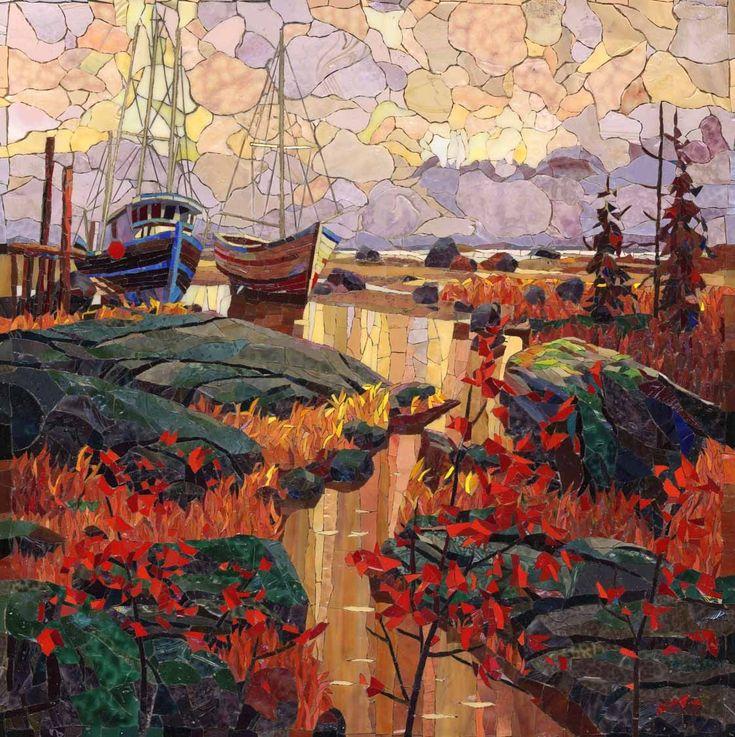 Мозаичная Картина Карельская осень = Oh so pretty.