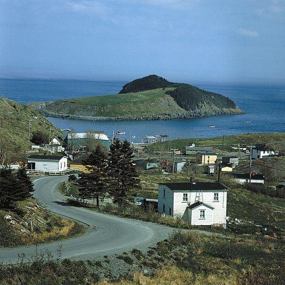 Visit quaint fishing villages along the coast of Newfoundland.
