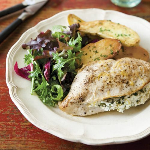 Chicken Breasts Stuffed with Goat Cheese, Arugula & Lemon - Clean ...