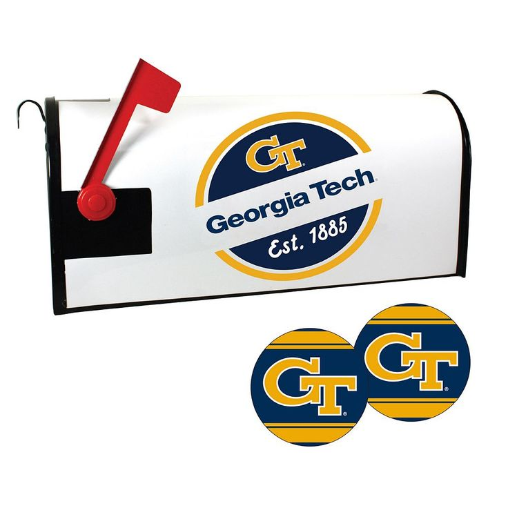 Georgia Tech Yellow Jackets Magnetic Mailbox Cover & Decal Set, Multicolor