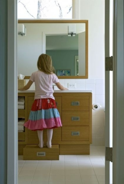 kids bathroom ideas drawer in cabinet which is is step