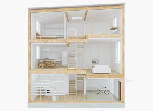 Muji's prefab Vertical House now available