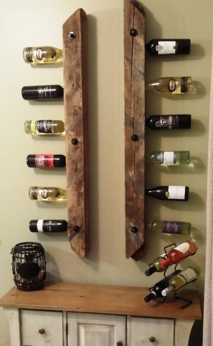 Wine Rack Made With 4x4 Inch Reclaimed Barn Wind Braces