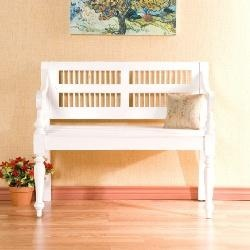 Classic Antique White Mahogany Bench Southern Enterprise BC9247 (Shipping Included): Paintings Furniture, Favorite Places, Organizations Ideas, Entryway Benches, Southern Enterpri, Kitchens Tables, Marketing Finding, White Benches, Benches 135