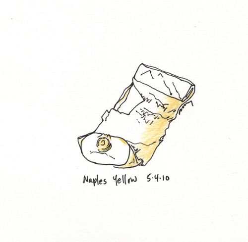 """I added """"Anne M Bray - Naples Yellow"""" to an #inlinkz linkup!http://www.annembray.com/shows/11---sketches/pages/2102-naples%20yello5-10.htm"""