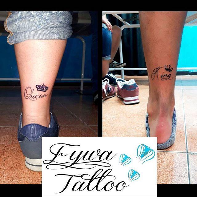 Nuevos tattoos de pareja, para Amanda y Juan. ❤ #tattoo #tattoos #tatuaje #tatuajes #pareja #elyella #ella #el #corona #coronas #queen #king #reina #rey #ink #tinta #negro #eywatattoo #cordoba #andalucia #españa #tatuada #tatuado #chico #chica #mujer #hombre